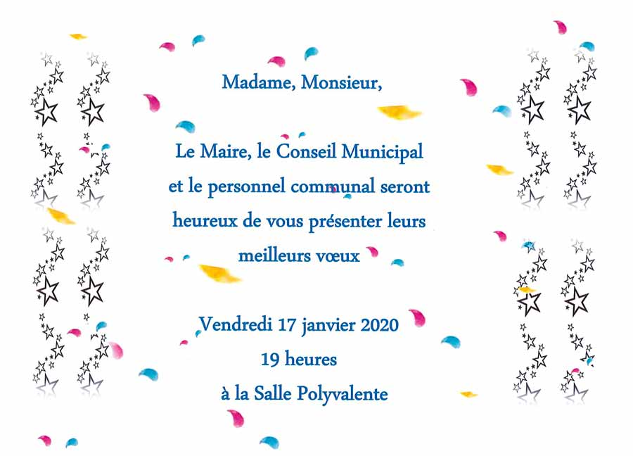 Invitation vœux du Maire